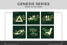 Genesis Foundations of Faith Series Art Foundation Series, Church Graphic Design, Work Opportunities, Genesis 2, Pentecost, Old Testament, All Icon, Art File, Christian Faith