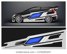 Car Wrap Graphic Racing Abstract Strip And Background For
