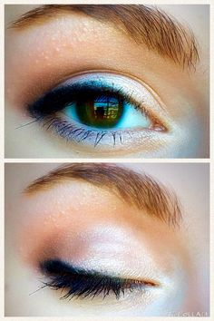 If I would have to pick an everyday eye look, this would be it! It's a quick and light smokey eye that gives your eyes a natural glow. I would recommend this look to anyone who has fair skin! Since the eyeshadow is so light, it would barely show up on tan or dark skin.