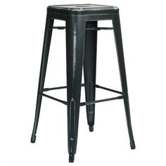 Enrich the style of your home or patio with this classic and nostalgic Bristow Collection Vintage Sheet Metal Barstool. Delightfully finished with an antique pa...