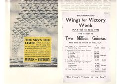 WW2 Wings for Victory 6 leaflets dropped by RAF to raise funds to buy bombers