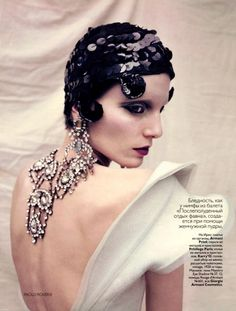 Iris Strubegger photographed by Paolo Roversi for Vogue Russia.