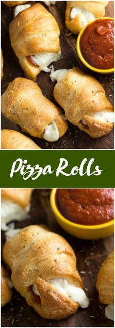 Pizza Rolls – Soft and buttery crescent rolls filled with gooey melted cheese and pepperoni slices Add some pizza dipping sauce on the side and you have a tasty appetizer kids love! The post Pizza Rolls appeared first on Woman Casual - Food and drink Appetizers For Kids, Yummy Appetizers, Appetizer Recipes, Dinner Recipes, Party Appetizers, Seafood Appetizers, Appetizer Ideas, Party Snacks, Kid Friendly Appetizers