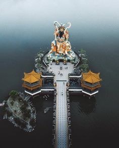 Kaohsiung Temple , Taiwan on We Heart It Floating Architecture, Chinese Architecture, Taiwan Travel, Us Travel, Beautiful Places To Visit, Wonderful Places, Asia, Lotus Pond, Fantasy Places