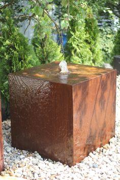 Wasserspiel SET Cortenstahl Kubus 60 Rost Würfel inkl. Pumpe Becken Springbrunnen 1.099 Euro