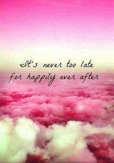 Never too late for happily ever after!!