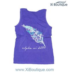 Xi Boutique Tank Sale!! Grab our Violet Quill Script Tank for 23.00 today!