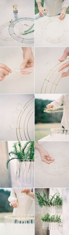 DIY Test Tube Chandelier Tutorial