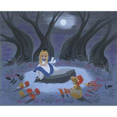 Mary Blair: Alice on Rock in Woods