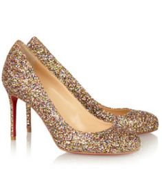 Pumps by Christian Louboutin. Saw them at mall. Gorgeous in person!