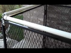 """CLIMBING PREVENTION SYSTEM - Rollers make it difficult for dogs, and other animals to get the """"foothold"""" they need to pull themselves up and over the top of a kennel.  It freely rotates with little pressure applied.  Rollers at the top of each panel should prevent most dog types from climbing over."""