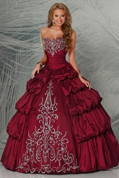 Buy Terrific Quinceanera Dresses Sweetheart Ball Gown Pick Up Bubble Skirt With Embroidery latest design at online stores, high quality of cheap wedding dresses, fashion special occasion dresses and more, free shipping worldwide.