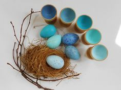 Montessori wood bird nest and egg sorting by laughingcrickets, $28.00
