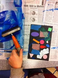 Print Making-- this blog has lots of art ideas.  She does a drop in art program for kids.