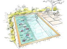 ecopool Flora Budget rechteckige Form -Konfigurator Schwimmteich und Naturpool - Salamander Naturgarten AG - #Naturpool #Schwimmteich #Gartenplanung #Garten #Schwimmteich / #Gardenplanning #Garden
