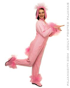 Homemade pink poodle costume for adults 2a156bc61