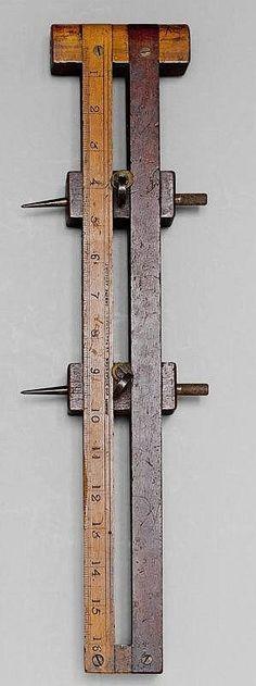 Wood and Iron beam Compass 19th Century England #woodworkingtools