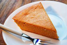 crustless pumpkin pie. pumpkin purée, low fat cream cheese, greek yogurt, sugar, salt, while wheat flour, eggs, and vanilla.