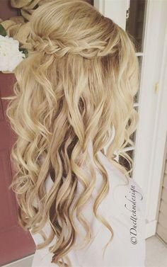 beautiful-half-up-half-down-wedding-hairstyle-ideas.jpg (600×959)