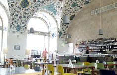 Corbaci: the café/restaurant with a tiled sky as a Roof  Reviewed by Vienna's English-speaking blogazine helping People make the most out of Vienna...and life.
