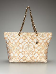 Jewel Printed Satin Tote by Love Moschino on Gilt