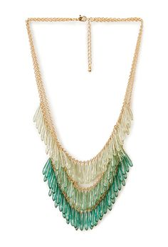 Ombre Glass Bead Necklace | FOREVER21