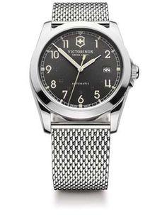 Victorinox Swiss Army Infantry Mens Automatic - Black Dial - Steel Mesh Bracelet