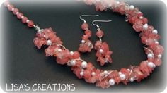 Cherry Quartz Set | lisashandmadejewelry - Jewelry on ArtFire