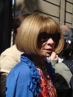 Anna Wintour after Valentino show