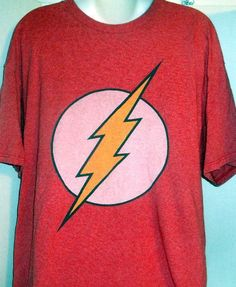 DC COMICS FLASH RED LOGO LIGHTNING BOLT GRAPHIC T-SHIRT XLARGE #DCComics #GraphicTee