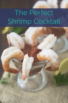 Learn how to make a perfect shrimp cocktail at home, including your own homemade cocktail sauce and instructions for the type of shrimp to use and how to cook them so that they're tender, juicy and delicious. Seafood Appetizers, Seafood Recipes, Appetizer Recipes, Cooking Recipes, Cooking 101, Cooking Time, Dinner Recipes, Homemade Cocktail Sauce, Cocktail Recipes