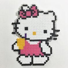Hello Kittz hama perler beads by Molly & Selma