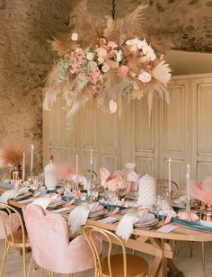 Modern romance under the warm Tuscan sun in this wedding inspiration filled with pale pink + emerald, and a gorgeous wedding dress! Decoration Table, Reception Decorations, Pink Wedding Decorations, Engagement Decorations, Reception Ideas, Wedding Streamers, Floral Rosa, Tuscan Wedding, Design Floral