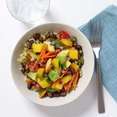 Brown Rice and Veggie Bowl with Ginger-Lime Dressing Recipe   Weight Watchers Canada