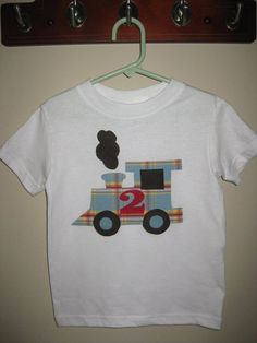Choo Choo Train Applique Shirt by MonkeysCloset on Etsy. Baby Dress Design, Choo Choo Train, Machine Quilting Designs, Patch Aplique, Children In Need, Crafty Craft, Embroidery Applique, Kids Wear, Fabric Crafts