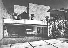 Casa en Lomas, calle Alpes, Lomas de Chapultepec, Miguel Hidalgo, México DF 1963  Arqs. Carlos Ortega Viramontes y Moisés Becker -  House in Lomas, calle Alpes, Lomas de Chapultepec, Mexico CIty 1963