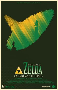 Zelda Ocarina of Time Marinko Milosevski Video Game Poster Design Video Game Movies, Video Game Posters, Video Game Art, Movie Posters, Gaming Posters, Theatre Posters, Theater, The Legend Of Zelda, Metroid