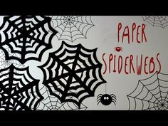 How to make PAPER SPIDERWEBS DIY for Halloween Party * by ART Tv - YouTube