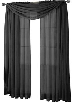96 Inch Sheer Black Curtains