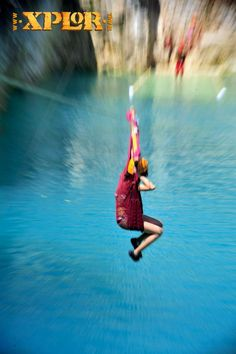 If it is the first time you'll fly on the zip lines, try the hammock zip line! #Travel