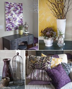 Best Color Palette Yellow And Plum In 2019 Home Decor 400 x 300