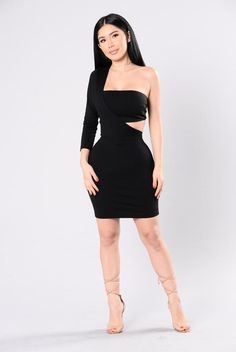 Cut You out of My Heart Dress - Black Sexy Dresses, Evening Dresses, Short Dresses, Fashion Dresses, Pretty Dresses, Blouse Dress, Jumpsuit Dress, Dress Up, Fashion Poses