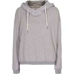 TRUE RELIGION Feather Hood Sweat Grey Marl Terry hoodie with feather... ($86) ❤ liked on Polyvore featuring women's fashion, tops, hoodies, sweaters, outerwear, sweatshirts, loose fitting tops, grey top, true religion and grey hoodies