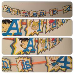 Rugrats party, Rugrats party decorations, rug rats party banner, rugrats party Looking for unique party decor? check out my etsy store: www.craftophologie.etsy.com