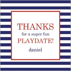 Navy Blue Stripe Gift Sticker - Set of 24 Party Invitations, Party Favors, Blue Stripes, Navy Blue, Monogram Gifts, 30th Birthday, Hostess Gifts, Accent Colors, Rugby