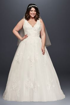 be7721be831 10893041 - Mikado and Tulle Plus Size Ball Gown Wedding Dress Cream Wedding  Dresses