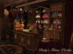 The Witch's Potion Shop by Ruby Fantasy Rooms, Fantasy Places, High Fantasy, Fantasy World, Fantasy Concept Art, Fantasy Art, Witch Shop, Fantasy Setting, Environment Concept Art