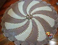 tapete em croche duas cores em croche com receita