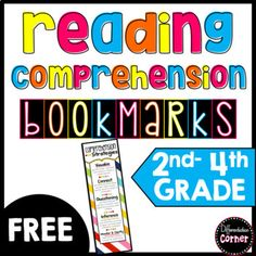 Reading Comprehension Bookmarks by Differentiation Corner 2nd Grade Reading Worksheets, Teacher Worksheets, Narrative Writing Prompts, Writing Resources, Reading Tutoring, Cute Bookmarks, Reading Comprehension Strategies, Teaching Literature, Reading Anchor Charts