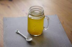 antioxidant drink ~ lemon, turmeric, cloves, nutmeg, acv, honey